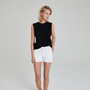 AG ADRIANO GOLDSCHMIED Hailey Ex-BF Roll Up Shorts